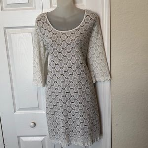 White lace dress size 8 petite